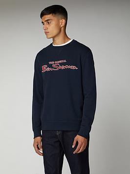 ben-sherman-logo-sweatshirt-navy