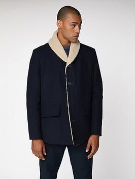 ben-sherman-heavyweight-shawl-collar-coat-navy-blue