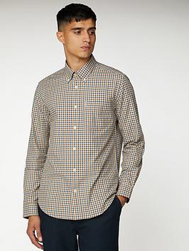 ben-sherman-long-sleeved-house-gingham-shirt-mink