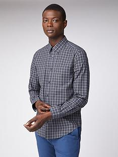 ben-sherman-long-sleeved-house-gingham-shirt-anthracite