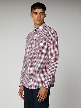 ben-sherman-ben-sherman-long-sleeve-house-check-dk-blue