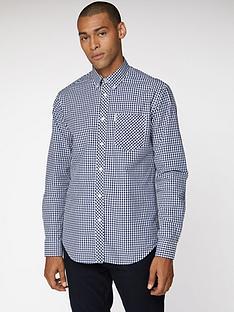 ben-sherman-gingham-shirt-dark-blue