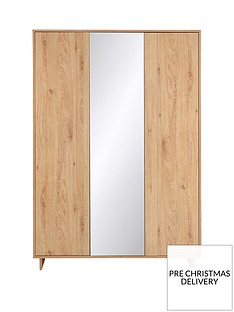 Leon 3 Door Mirrored Wardrobe