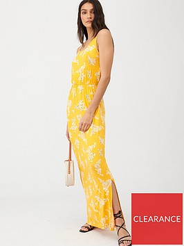 v-by-very-channel-waist-jerseynbspmaxi-dress-yellow-floral