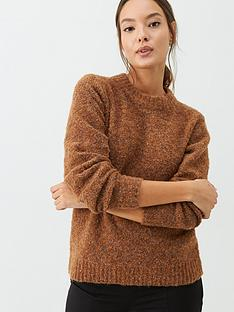 warehouse-teddy-boucle-blouson-sleeve-jumper-tan