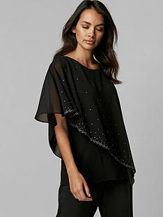 wallis-wallis-petite-scatter-hotfix-asym-overlayer-top-black