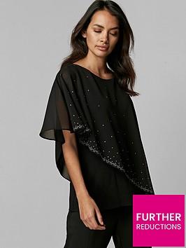 wallis-wallis-petite-scatter-hotfix-asym-overlayer-top-black