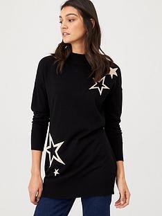 wallis-star-knitted-tunic-black