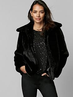 wallis-wallis-petite-harley-plush-short-faux-fur-coat