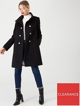 wallis-double-breasted-button-front-coat-black