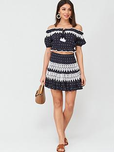 v-by-very-lace-trim-rara-co-ord-skirt-navy