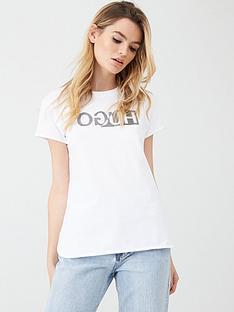 hugo-logo-slim-fit-t-shirt-white