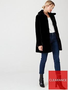 wallis-harley-plush-fauxnbsp-fur-coat-black
