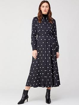 boss-casual-long-shirt-dress-polka-dot