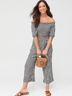 v-by-very-gingham-bardot-co-ord-top-mono-ginghamnbsp