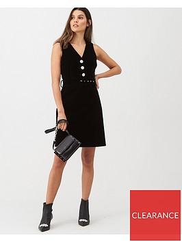 warehouse-velvet-dress-black