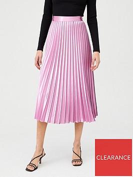 hugo-pleated-midi-skirt-stripe