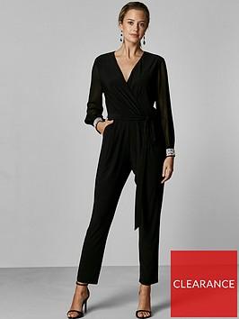 wallis-petite-disco-trim-jumpsuit