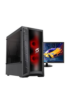 Zoostorm Stormforce Onyx Amd Ryzen 5 3400G, 8Gb Ram, 1Tb Hard Drive &Amp; 120Gb Ssd, Gaming Pc (Black) + 24 Inch Asus Gaming Monitor