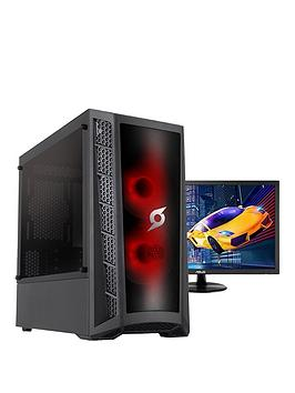 Zoostorm Stormforce Onyx Amd Ryzen 3 3200G, 8Gb Ram, 1Tb Hard Drive &Amp; 250Gb Ssd, Gaming Pc (Black) + 24 Inch Full Hd Asus Gaming Monitor