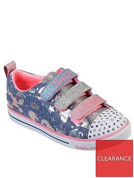skechers-girls-sparkle-lite-unicorn-plimsolls-multi