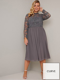 chi-chi-london-curve-zela-floral-lace-dress-grey