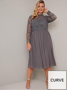 chi-chi-london-zela-floral-lace-dress-grey