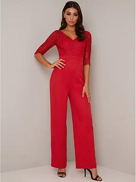 chi-chi-london-naria-jumpsuit-red