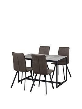 julian-bowen-staten-120-cm-dining-table-4-monroe-chairs