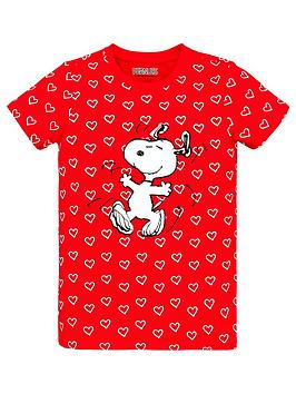 snoopy-girls-snoopy-hearts-t-shirt-red