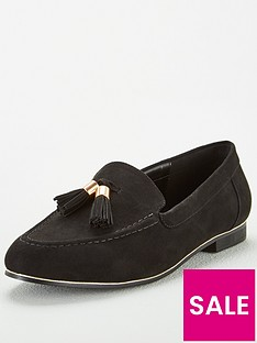 v-by-very-molly-wide-fit-tassel-loafers-black