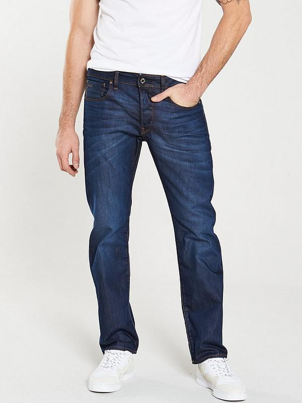 G Star Raw Damen 3301 Straight Fit Jeans Blau Outlet Store