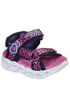 skechers-toddler-girls-heart-lights-leopard-sandals-pink