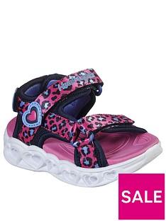 skechers-toddler-girls-heart-lights-leopard-sandals-pink
