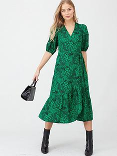 v-by-very-cotton-puff-sleeve-midi-dress-print