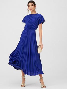 v-by-very-pleated-satin-midaxi-dress-blue