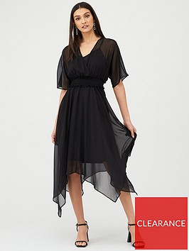v-by-very-shirred-waist-woven-dress-black