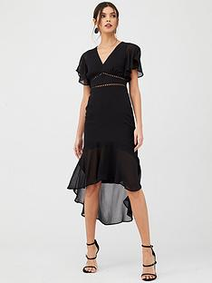 v-by-very-lace-trim-woven-midi-dress-black