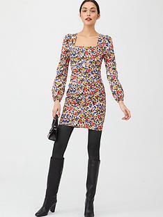 v-by-very-cotton-square-neck-mini-dress-print