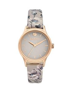 cath-kidston-cath-kidston-white-and-gold-detail-dial-pembroke-rose-print-grey-leather-strap-ladies-watch