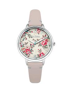 cath-kidston-cath-kidston-kingswood-rose-printed-dial-nude-leather-strap-ladies-watch