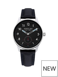 joules-joules-harrow-navy-dial-black-leather-strap-gents-watch
