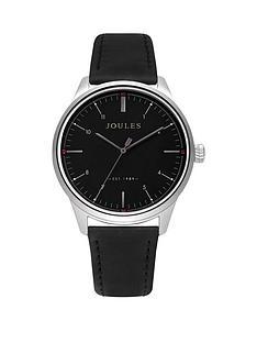 joules-joules-aldous-black-dial-black-leather-strap-gents-watch