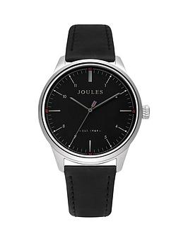 joules-joules-aldous-black-dial-black-leather-strap-gents-watch