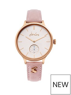 joules-joules-wilton-rose-gold-dial-pink-leather-strap-ladies-watch