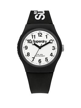 superdry-superdry-urban-white-dial-black-silicone-strap-unisex-watch
