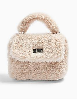 topshop-cosy-borg-grab-bag-cream