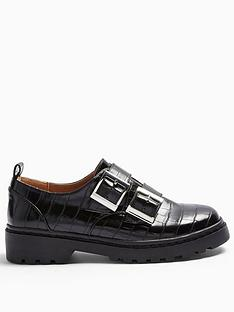 topshop-frankie-double-buckle-loafers-black