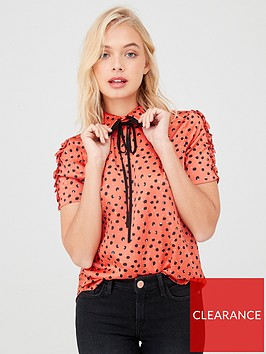 river-island-river-island-contrast-bow-collar-top--red-spot