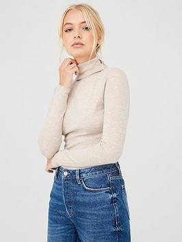 river-island-river-island-roll-neck-fitted-jumper-neutral